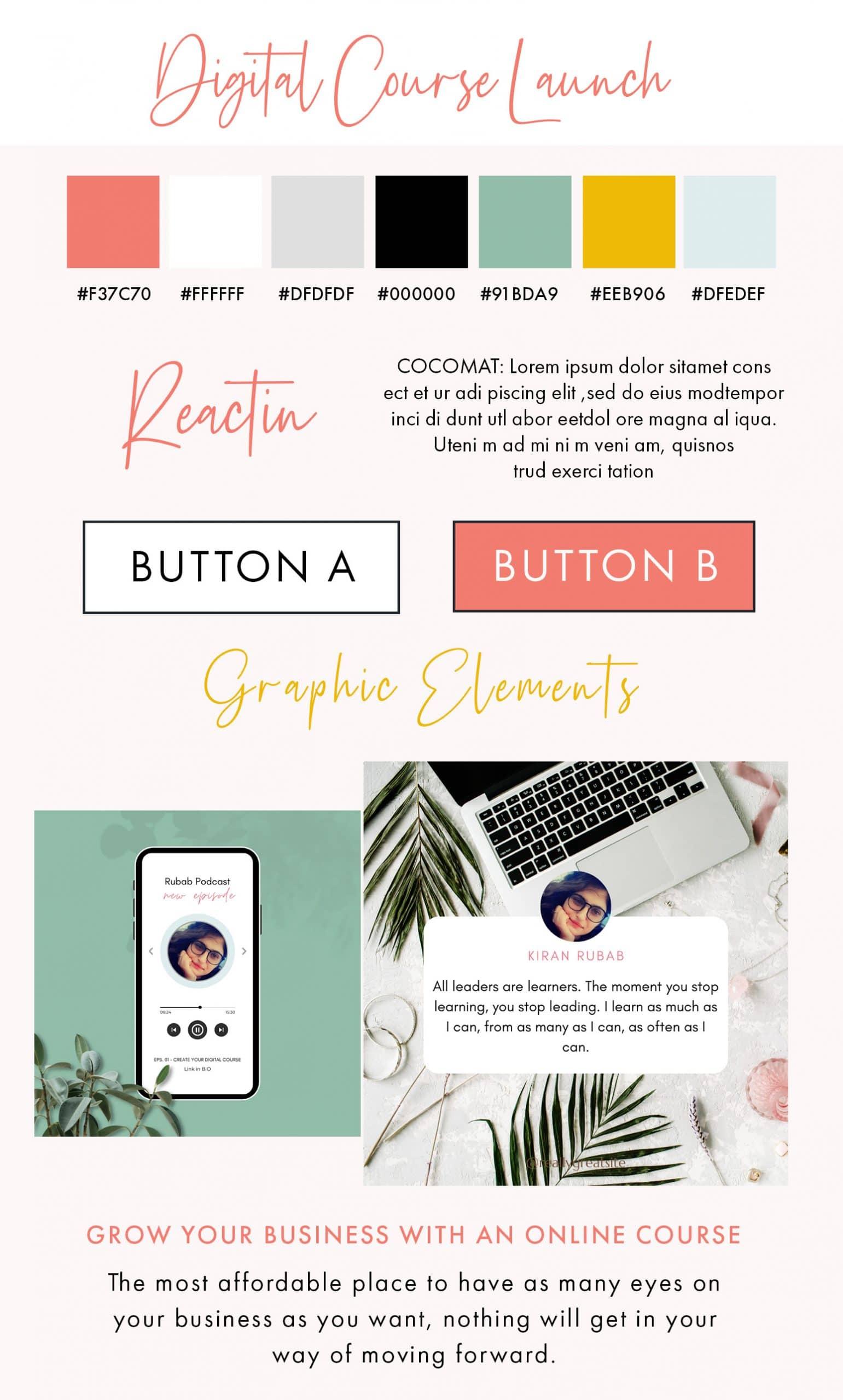 Digital-Course-Launch-Brand-Board